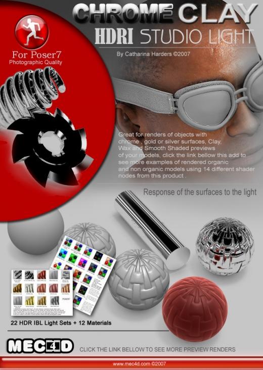 HDRI Chrome-Clay studio Light